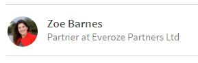 Everoze Partner Zoe Barnes