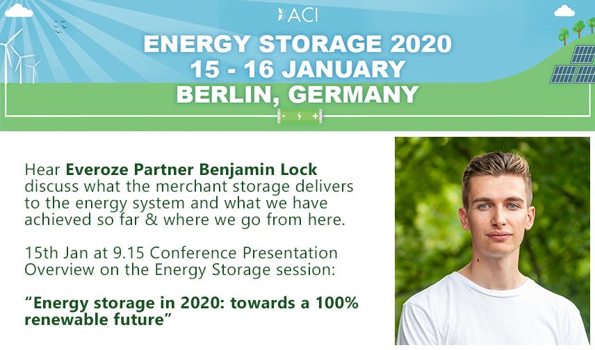 Everoze Partner Benjamin Lock at Energy Storage