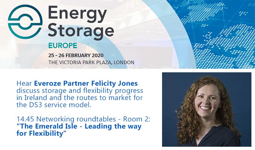 Everoze Partners Felicity Jones presenting at Energy Storage Summit 2020