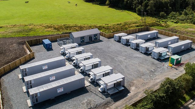 Broxburn 20 MW battery storage project, West Lothian, constructed in 2018 to provide sub-second balancing services to National Grid (image RES Ltd/Keith Arkins)